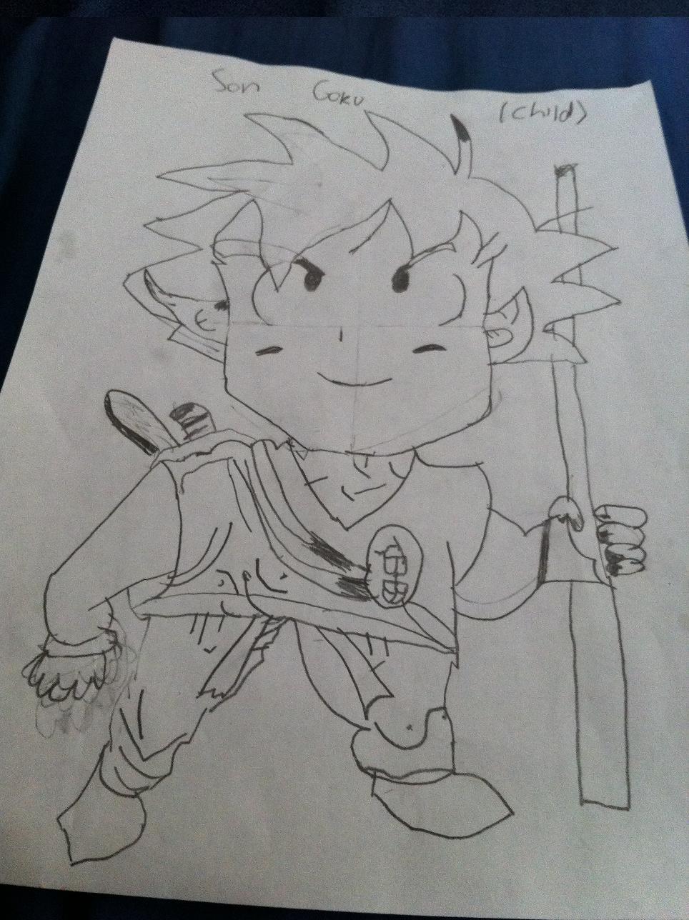 Son Goku Child Drawing