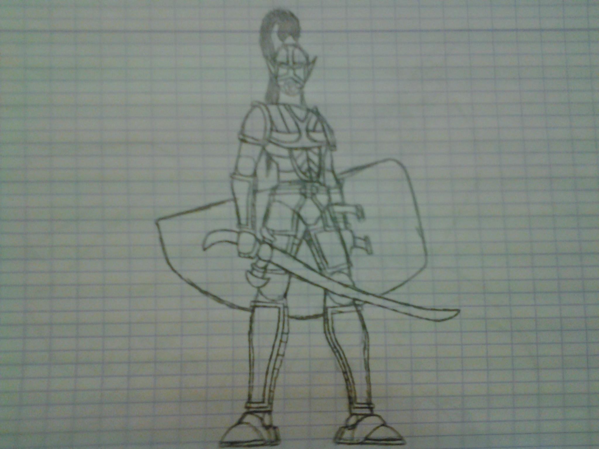 Dornof elven soldier