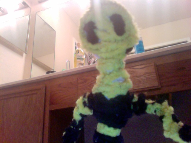 robot madeout of pipe cleaners