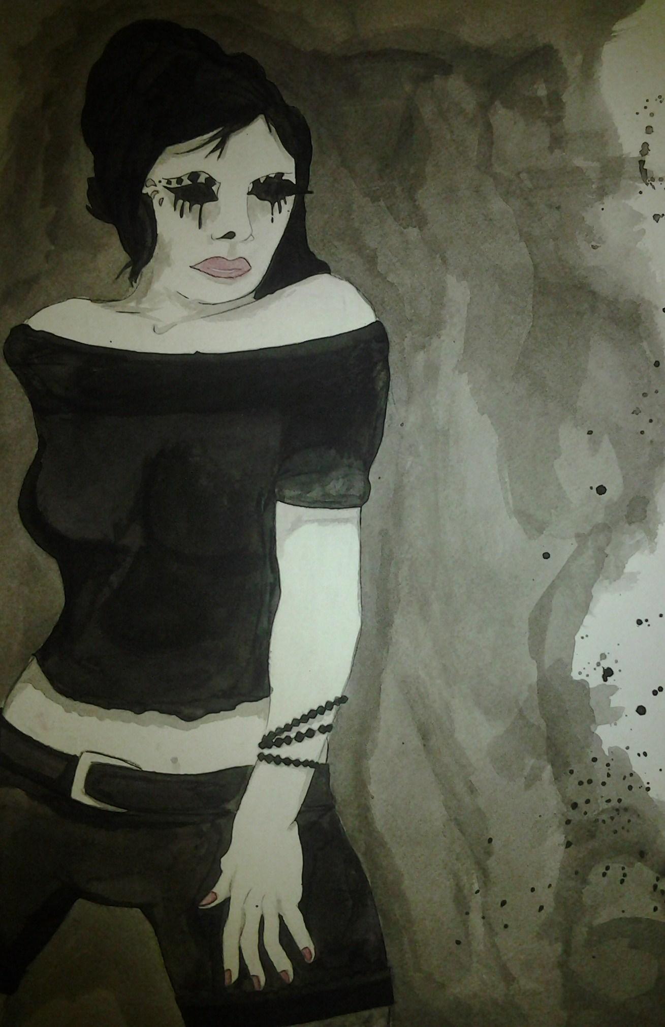 Ink Wash Girl