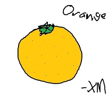 My Drawing of an Orange
