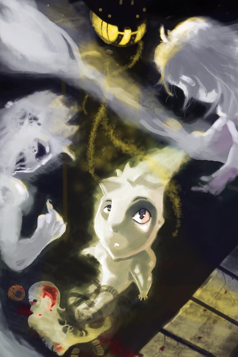 Trick-ah-Treating as Ghosts