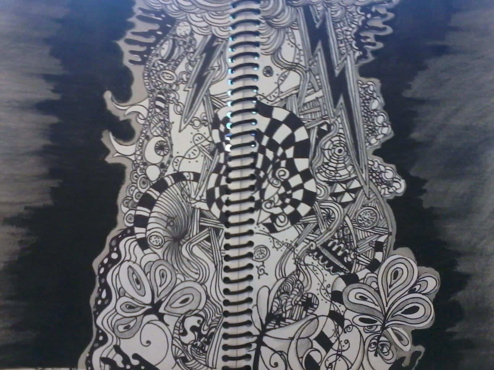 Zentangle in my sketchbook