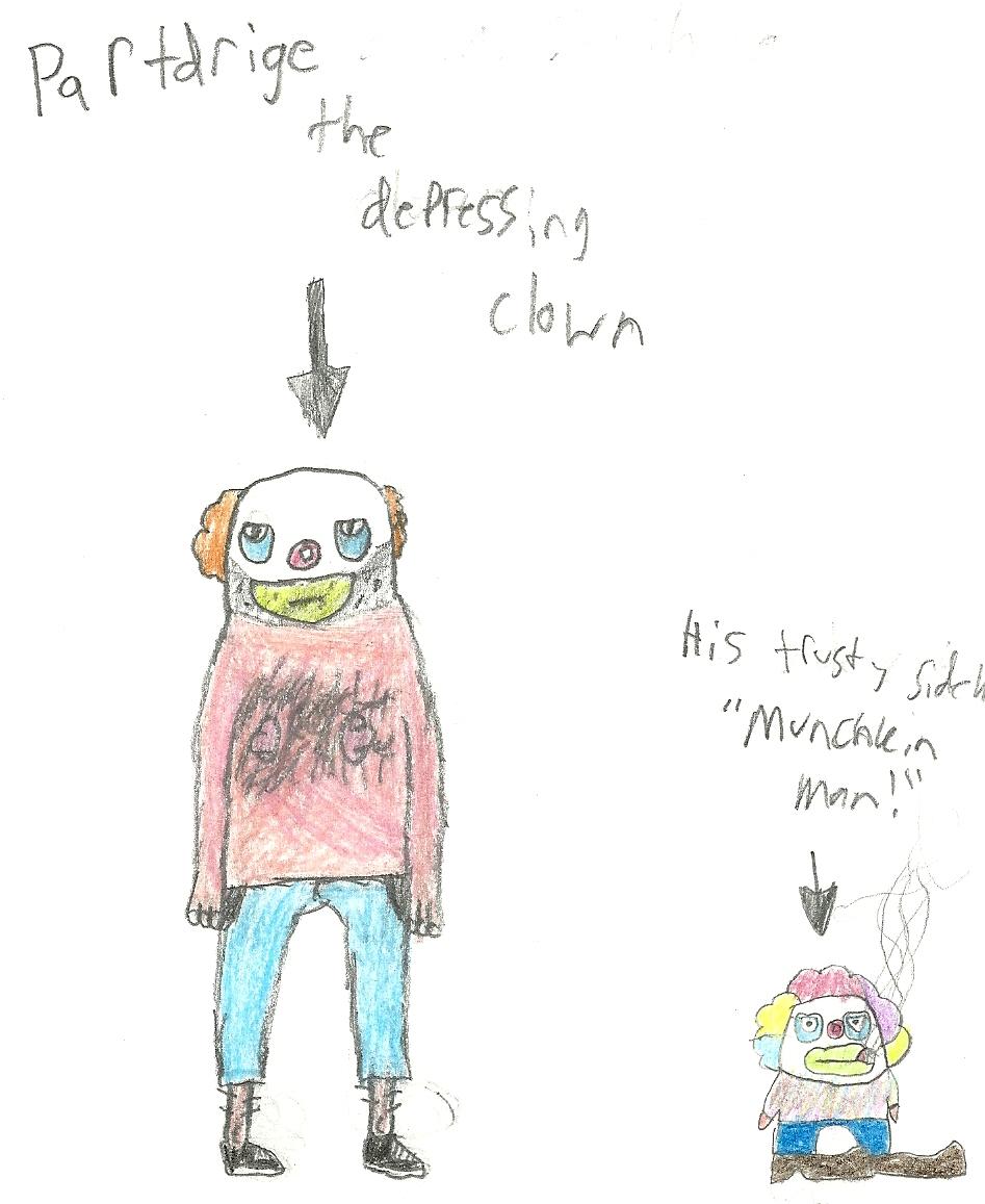 Partdige the depressing clown