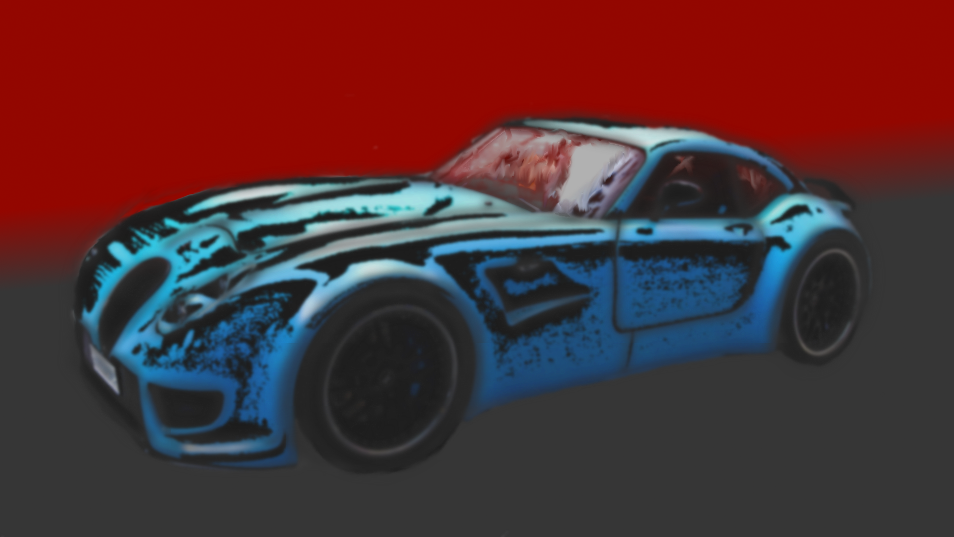 Blue dream car