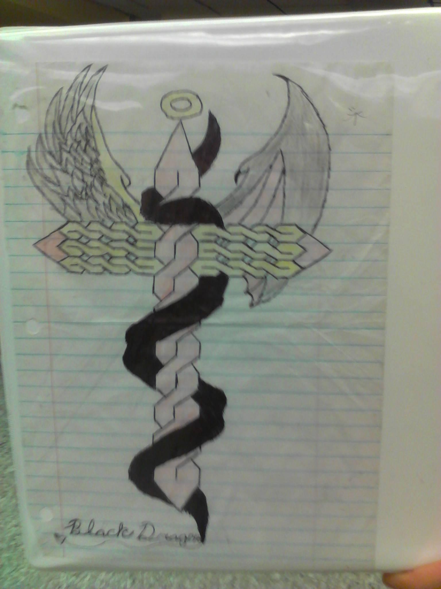 angel or demon cross