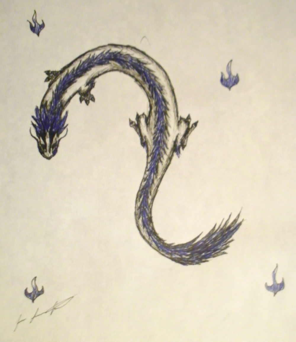 Blue Lung dragon