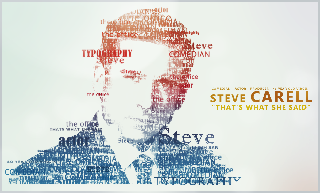 Steve Carell Typography