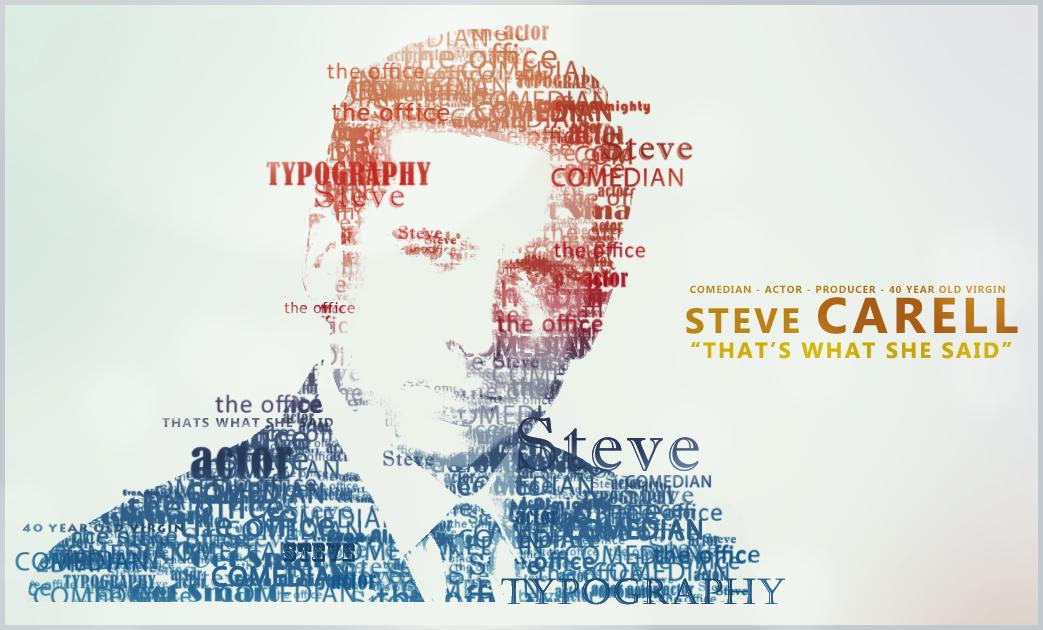Steve Carell Typography