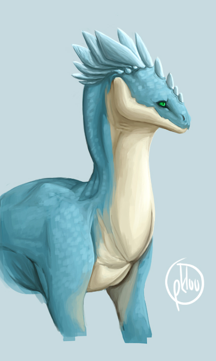 Blue Dragon Bust