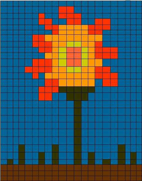 Pixle Sunflower (Before)