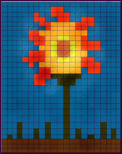 Pixle Sunflower (After)