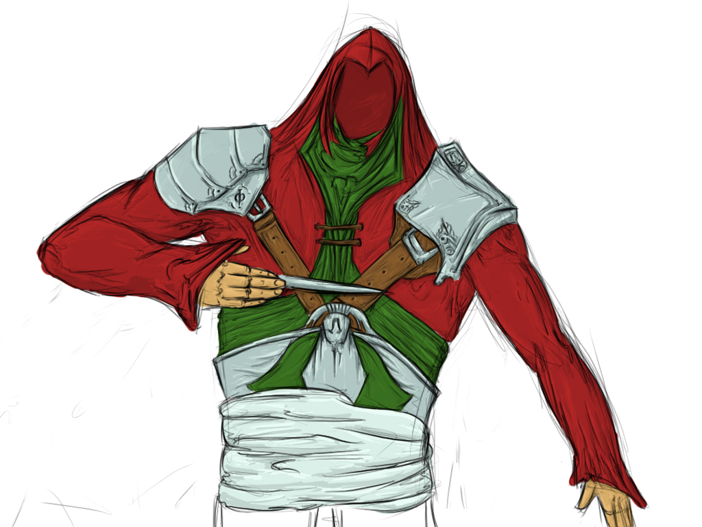 Red-green Assassin Suit
