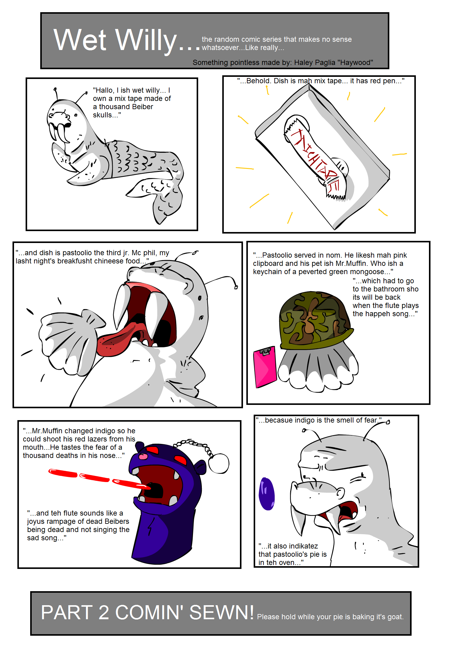 Wet Willy Comic 1st