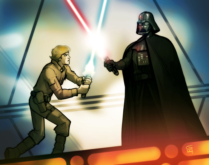 Luke and Vader