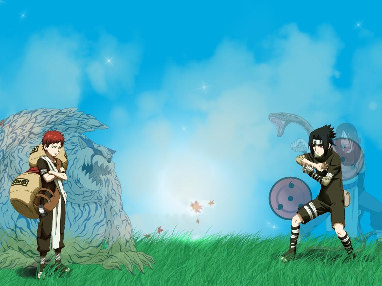 Sasuke vs Gaara