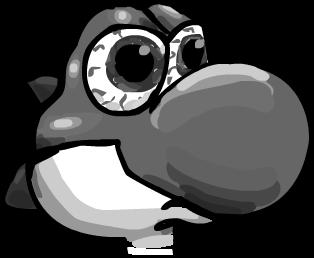 Black and White Yoshi