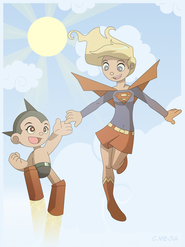 AstroBoy And SuperGirl