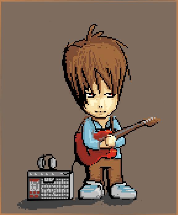 Me,Guitar and 8bit