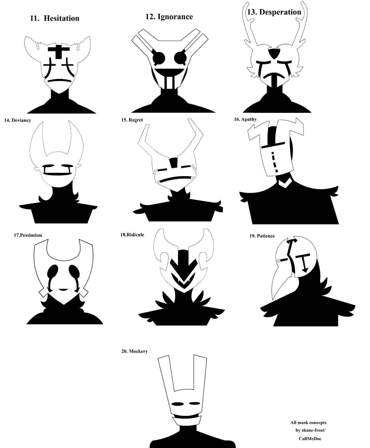 Mask concepts 2