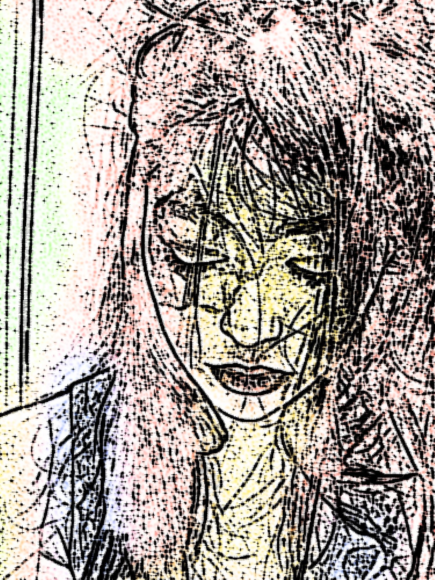 a sloppy self portrait
