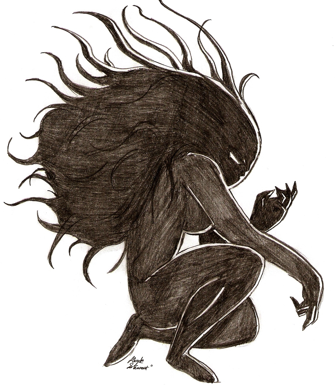 Blackend heart