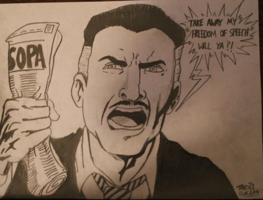 J. Jonah Jameson hates SOPA