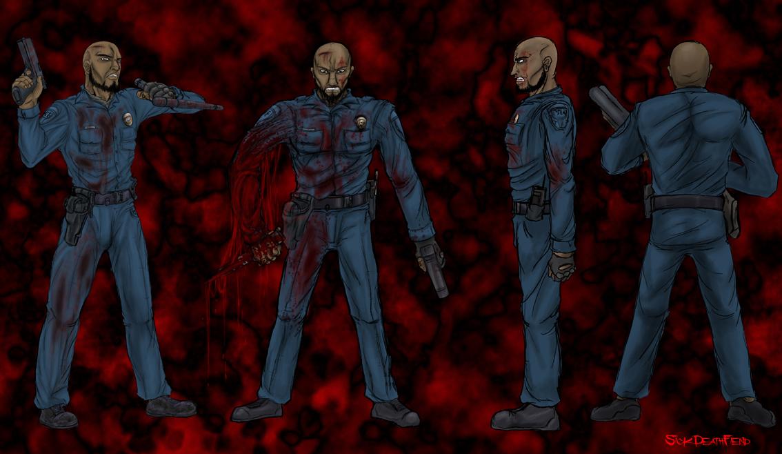 Zombie Panic concept alive cop