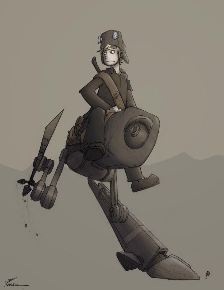Bipedal cavalry automaton