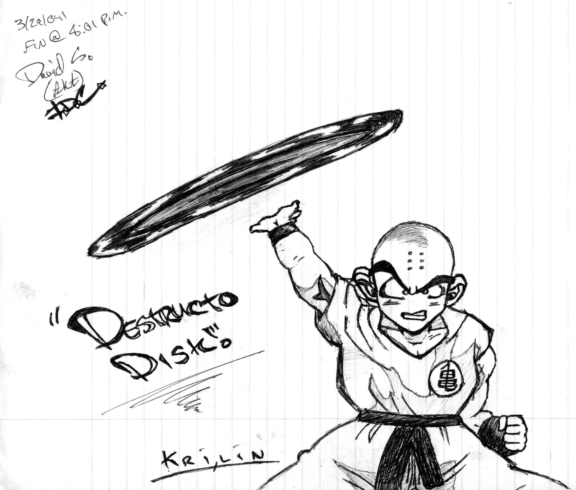 Krillin Distructo Disk