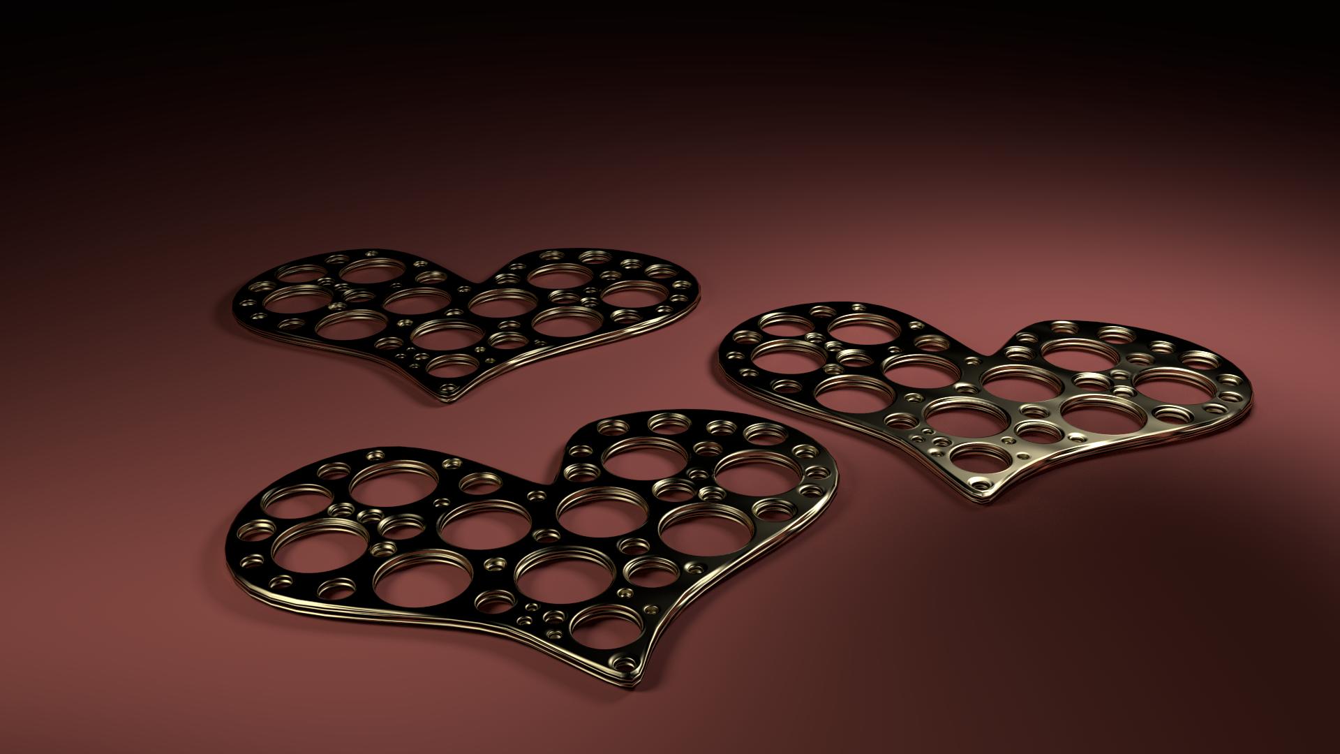 Pierced Metal Hearts Factory