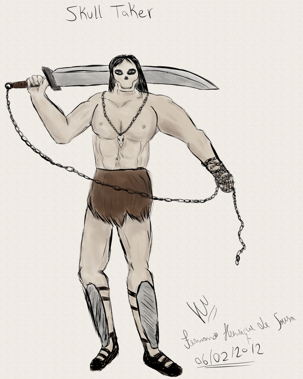 Kranak, the skull taker