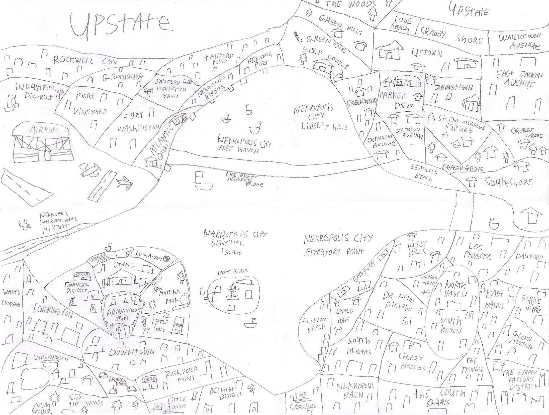 Map of Nekropolis City