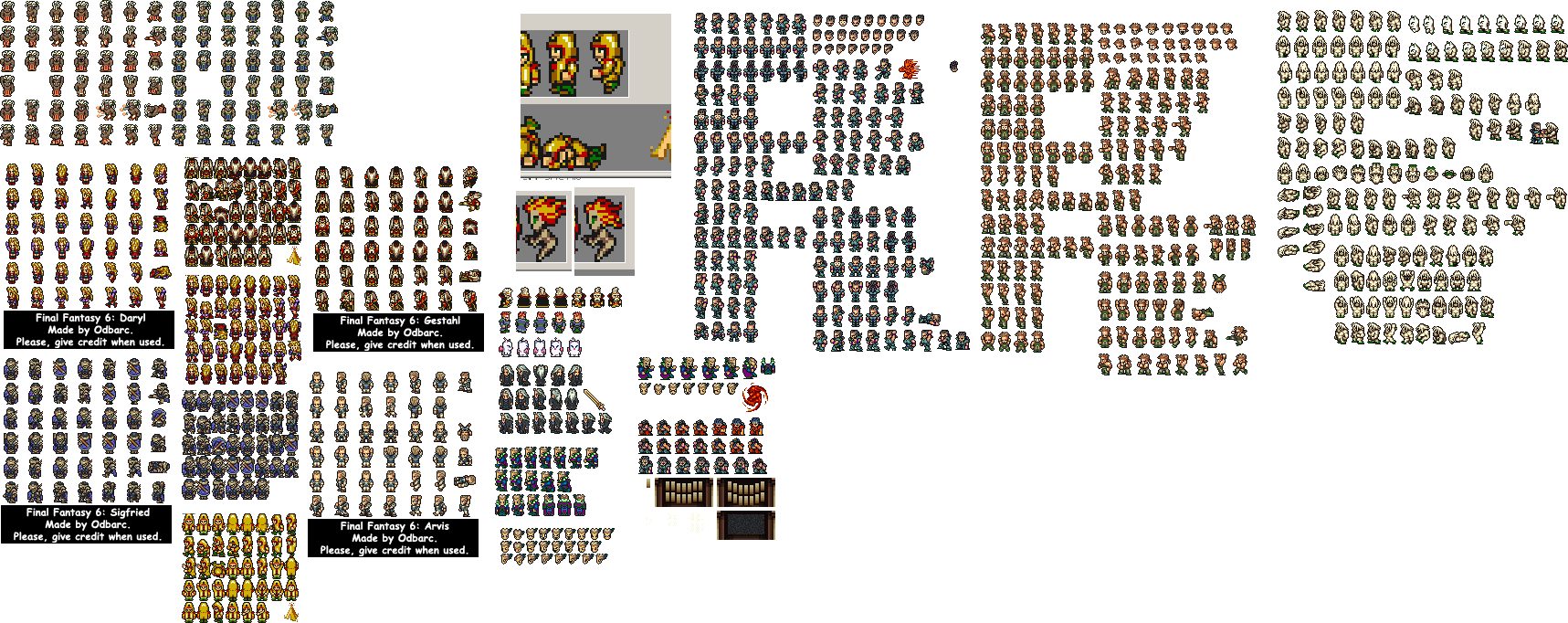 Final Fantasy 6 Custom sprites