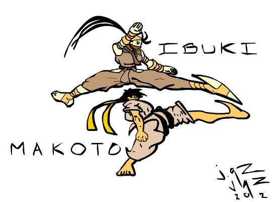 Ibuki/Makoto Strong Kicks