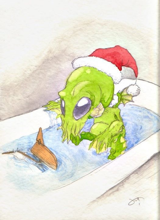 Cuthulu Bathing
