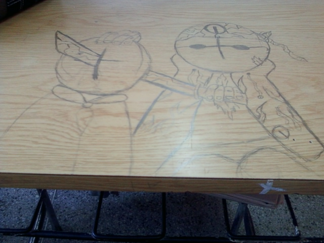 draw on the desk