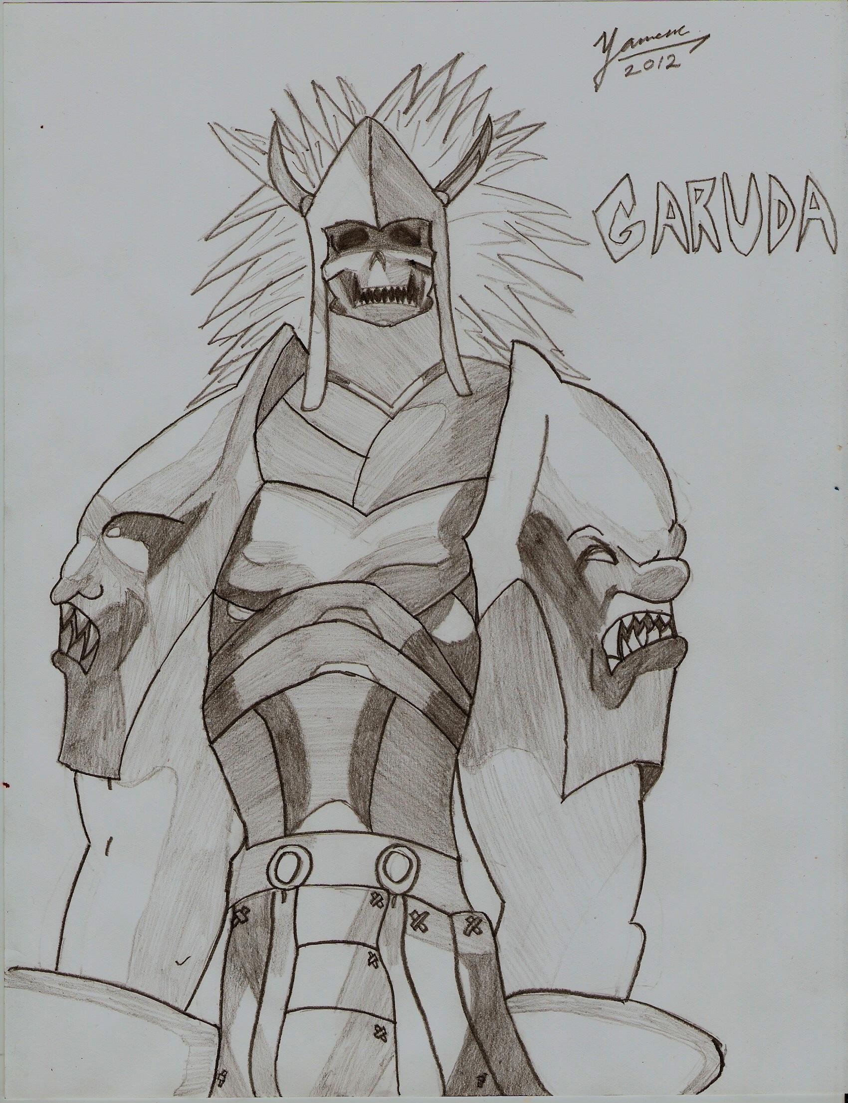 Garuda Pencil Sketch