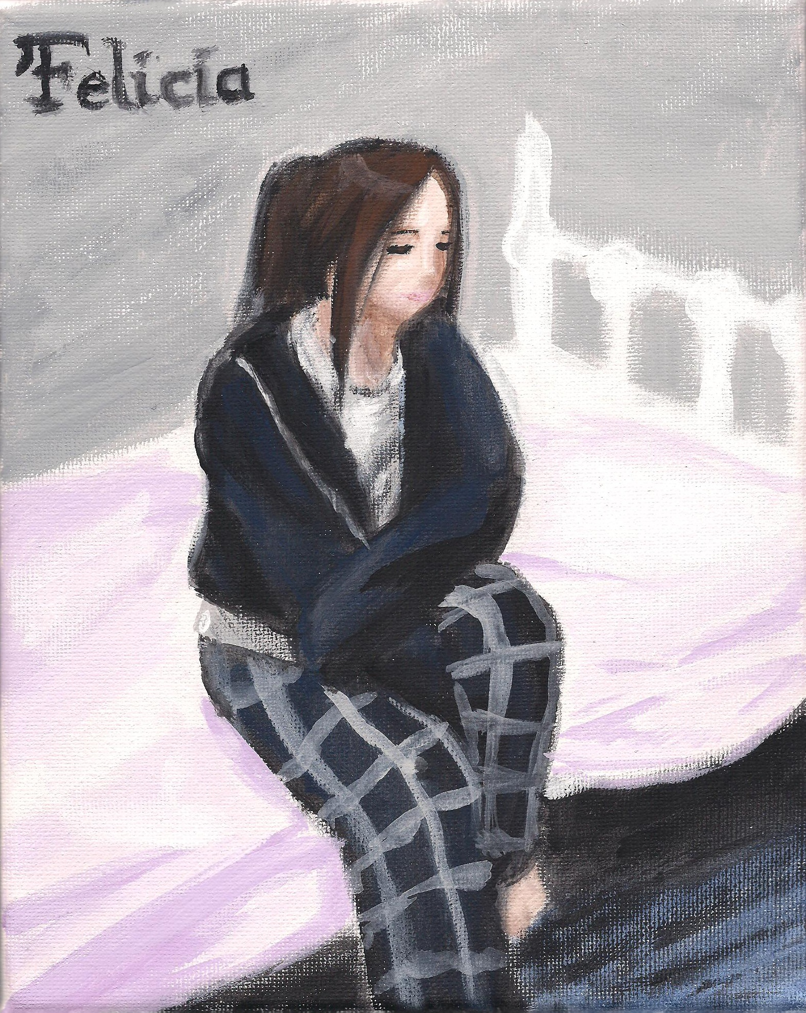 Felicia (acrylic painting#2)