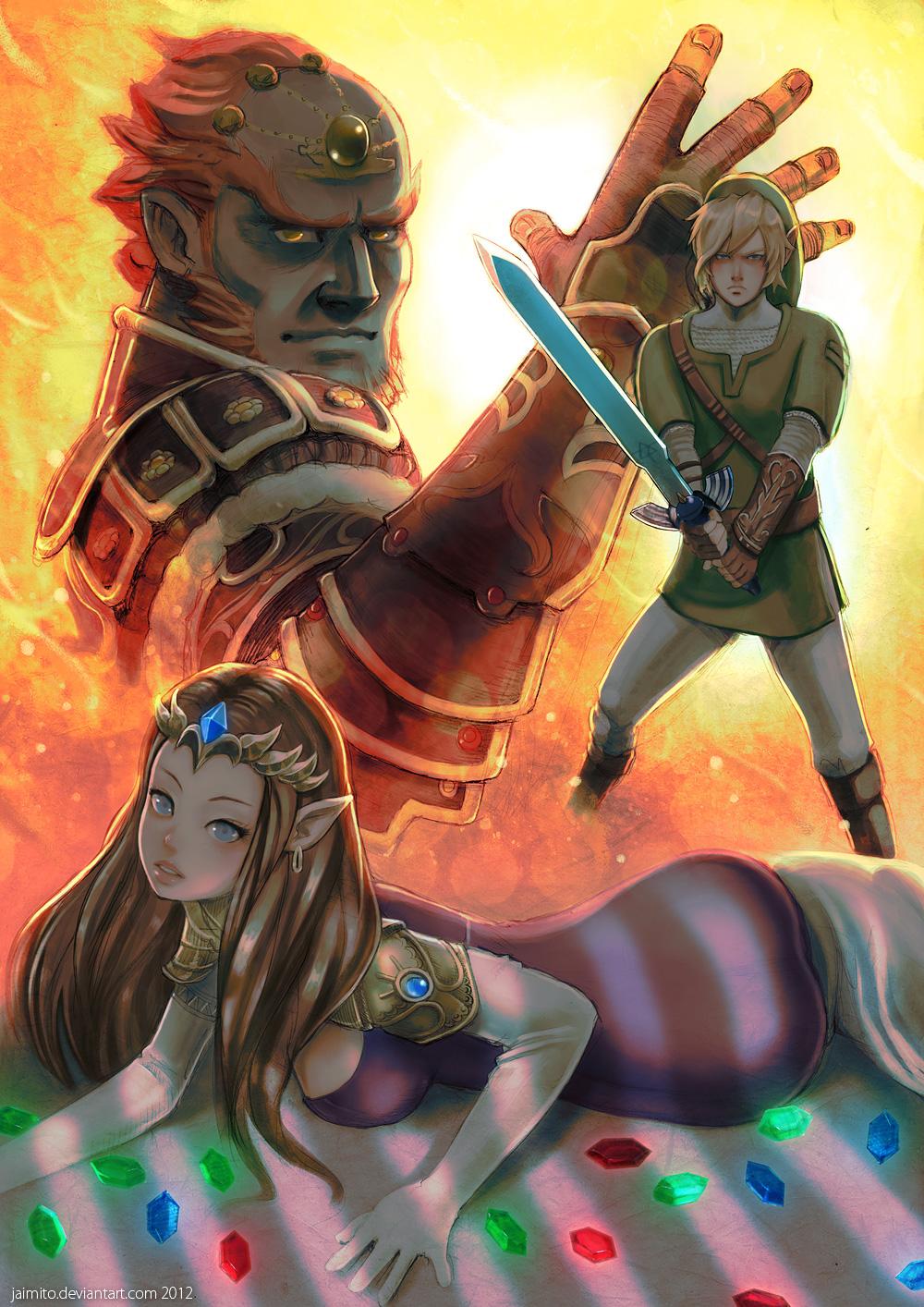 Zelda Ganon and Link