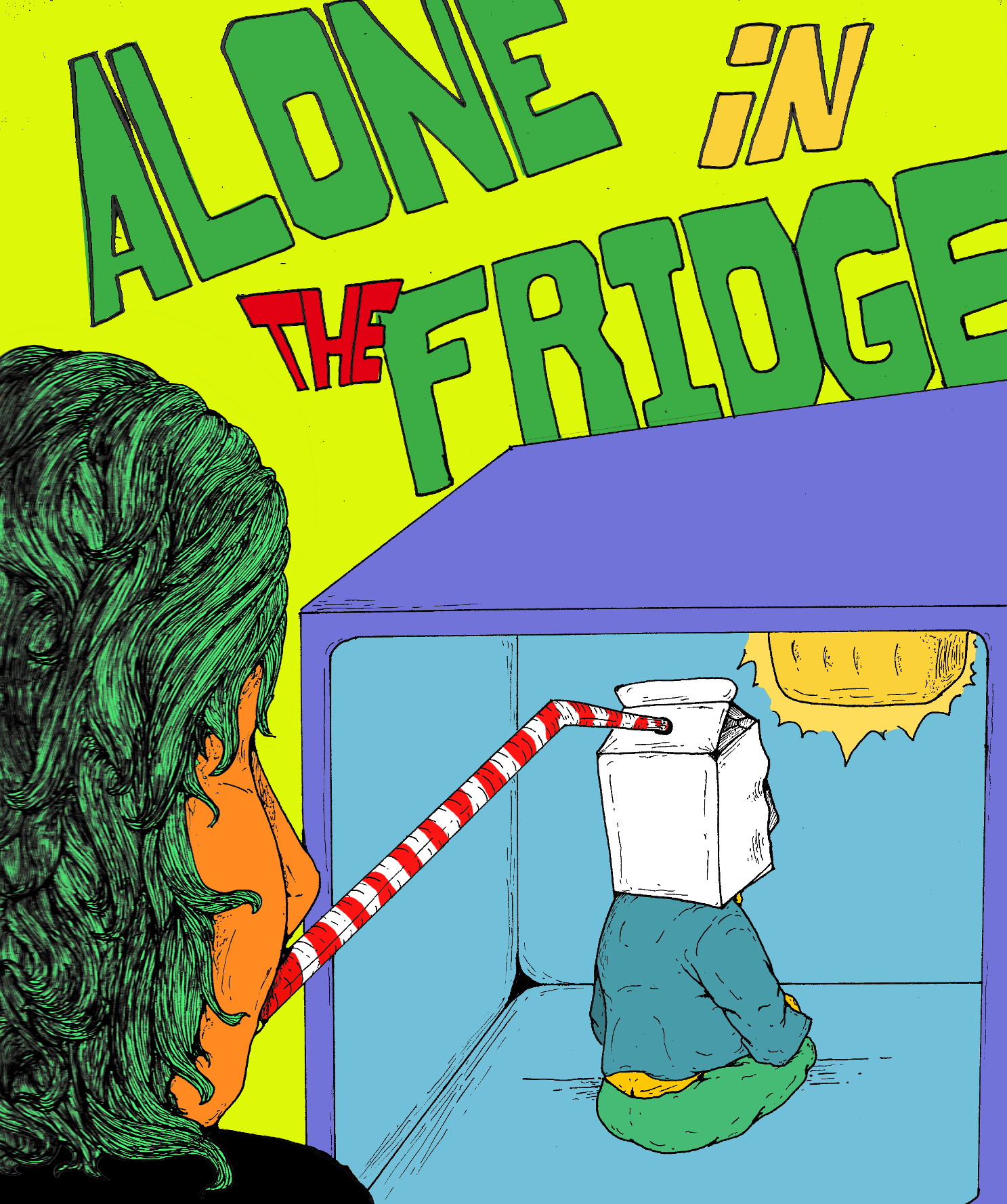 Alone in the fridge COLORED