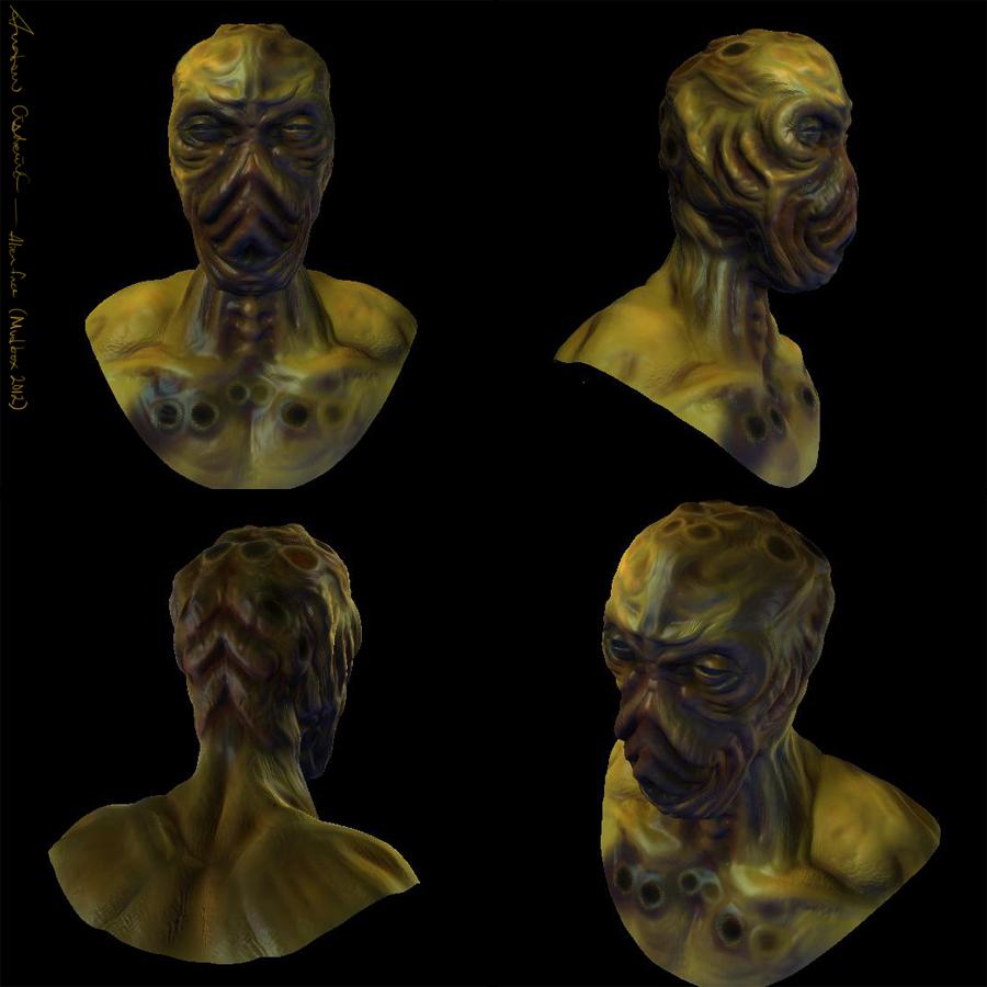 Rotten Alien Head