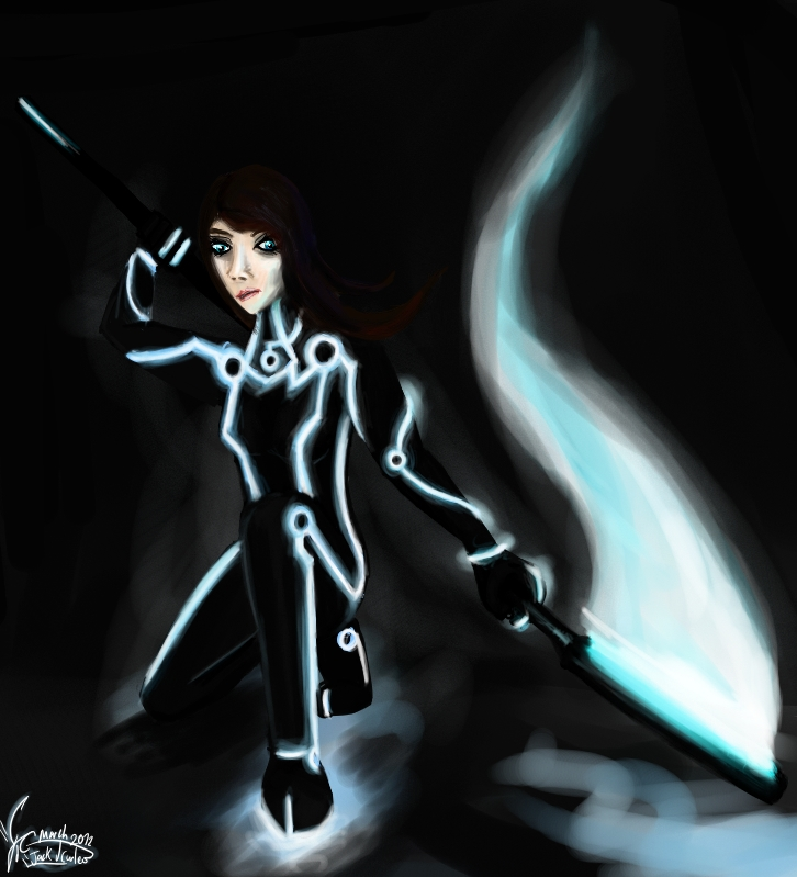Tron Flag girl