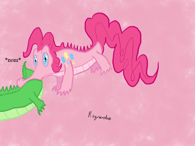 Gummy Pie the tail lover