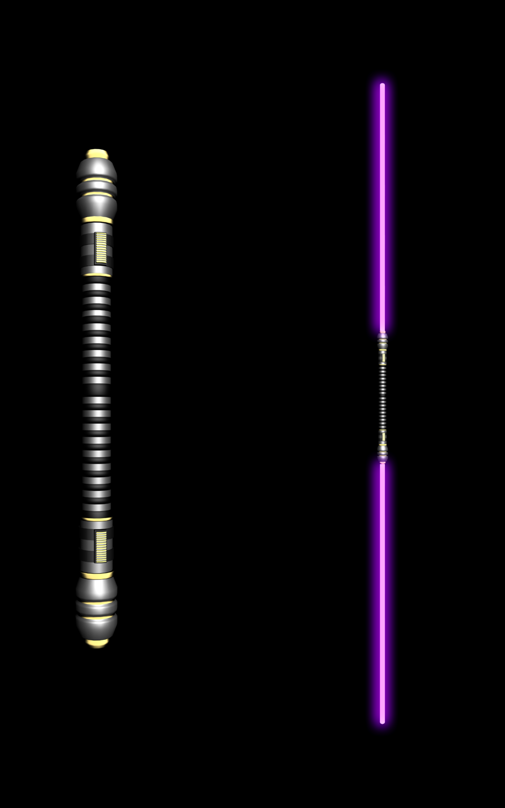 Custom Twin Jedi Lightsaber