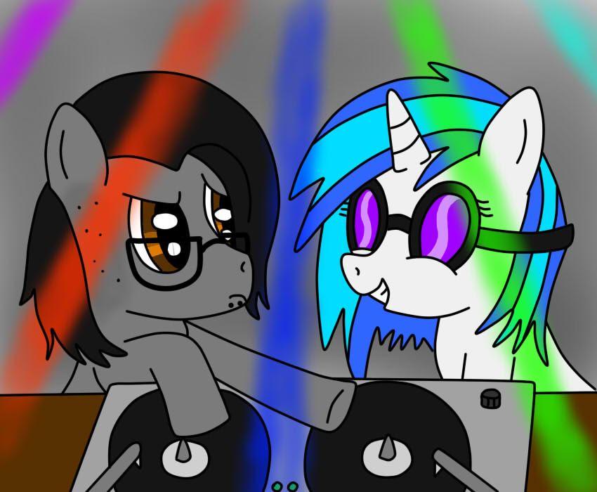 Vinyl Scratch and Skrillex