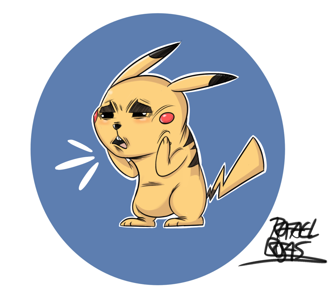 pikachu doodle