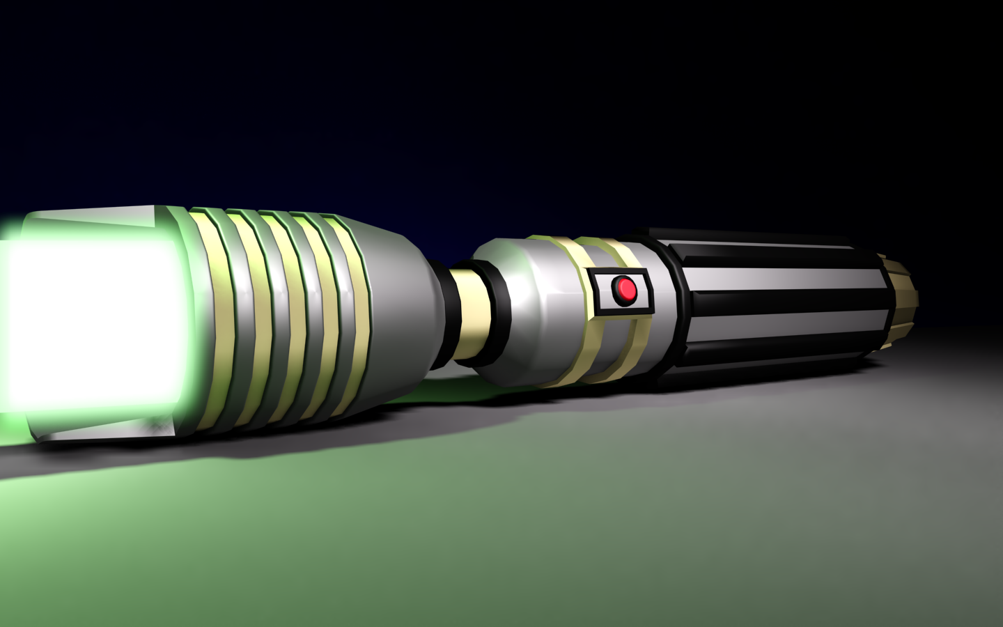 Custom 3D Jedi Lightsaber