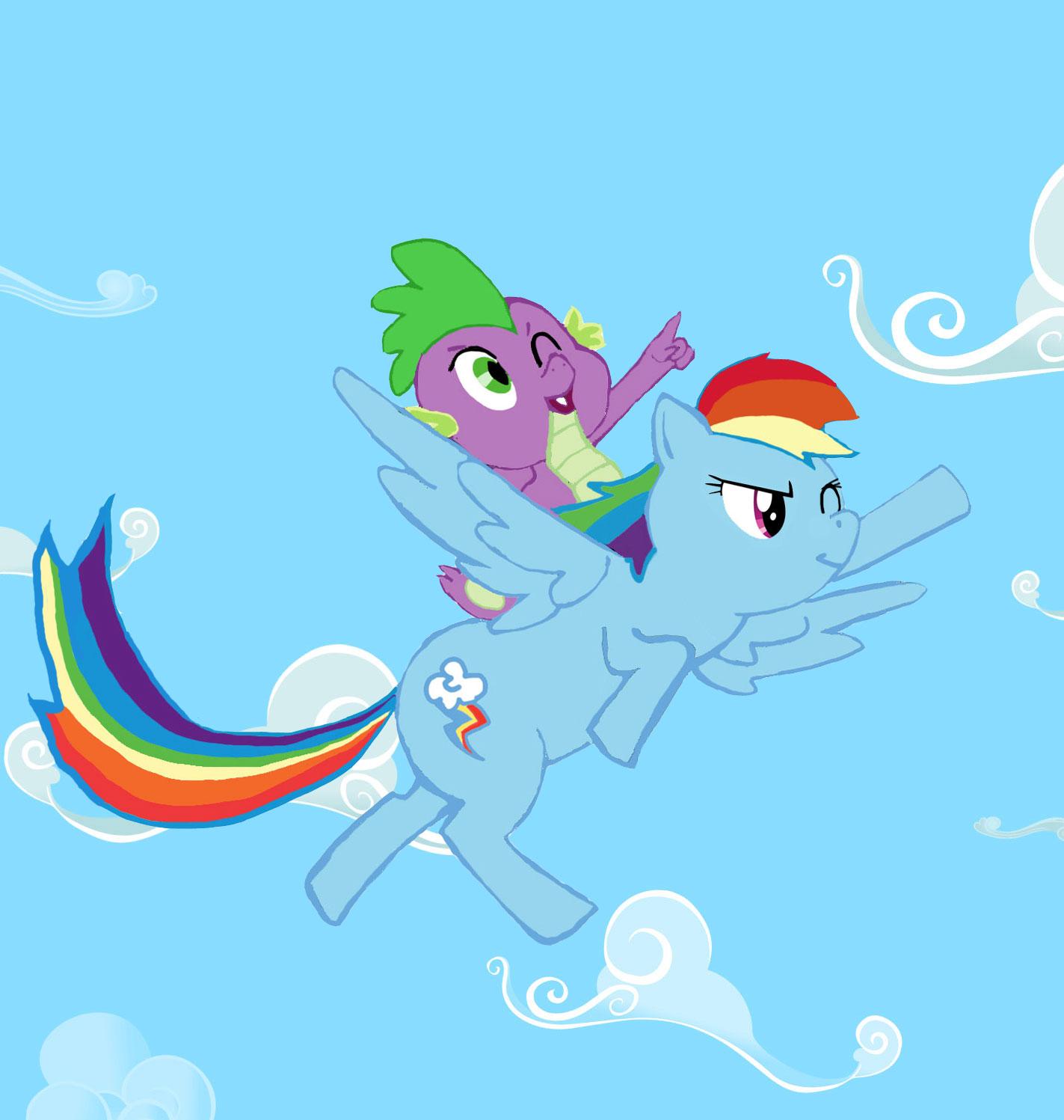 Rainbow Dash and Spike