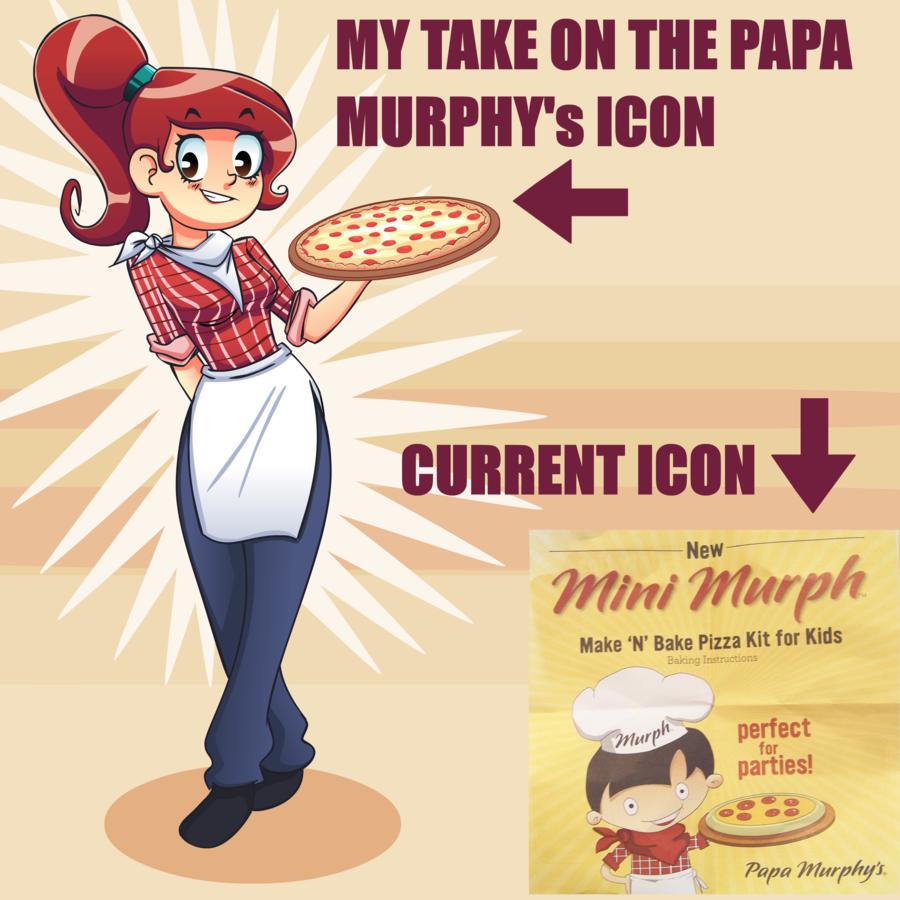 Papa Murphys Character Logo